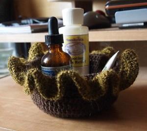 FREE PATTERN - Crochet Ruffle Bowl