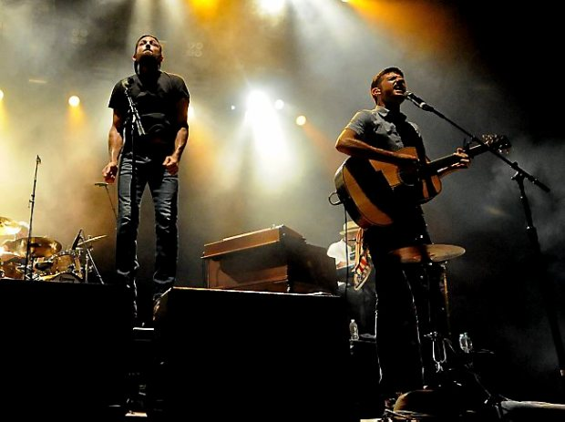 The Avett Brothers includes Scott Avett, left, and Seth Avett, right, entertains thousands on Saturday, Septermber 5, 2015 at the Minnesota State Fair in Falcon Heights.(Pioneer Press: Sherri LaRose-Chiglo)