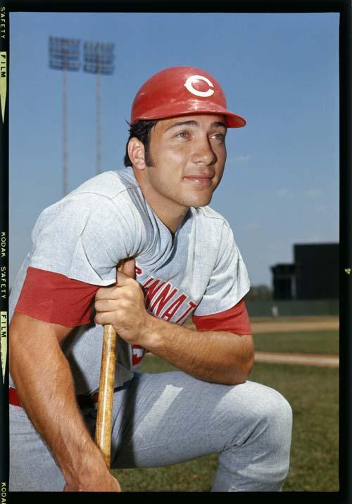 1969: Johnny Bench of the Cincinnati Reds poses for a portrait in 1969. Johnny Bench played for the Cincinnati Reds from 1967 - 1983. (Photo by Louis Requena/MLB Photos via Getty Images)