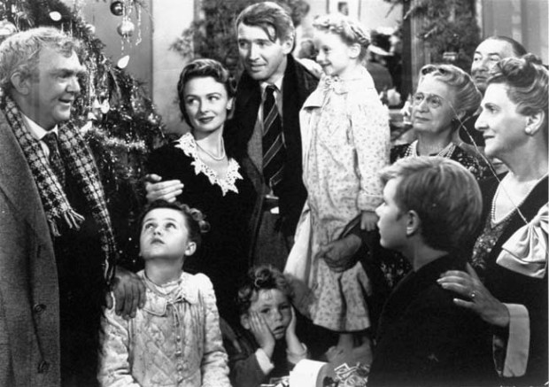 "Concluding scene from the holiday classic, ""It's a Wonderful Life."""