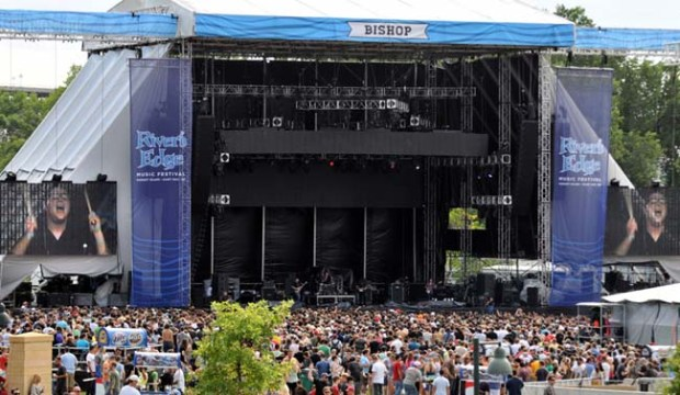 The band Coheed and Cambria play the main stage at the inaugural River's Edge Music Festival on Harriet Island in St. Paul, Saturday afternoon, June 23, 2012. (Pioneer Press: Chris Polydoroff)