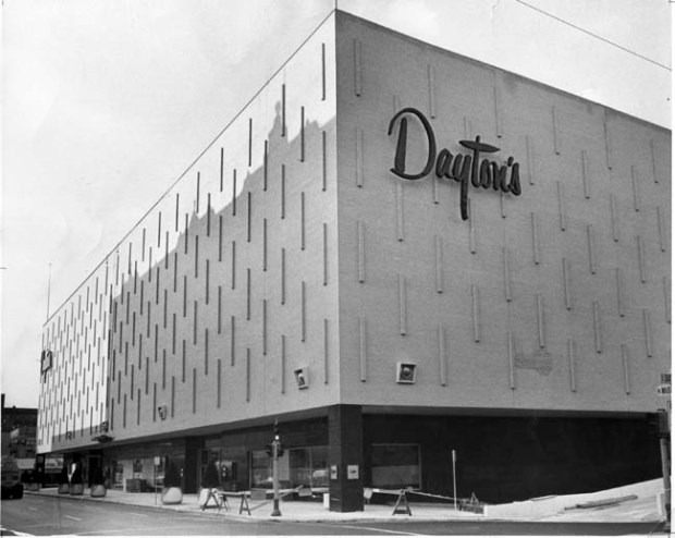 July 27, 1963: New Dayton's store from 6th and Wabasha looking north. (Pioneer Press file photo)