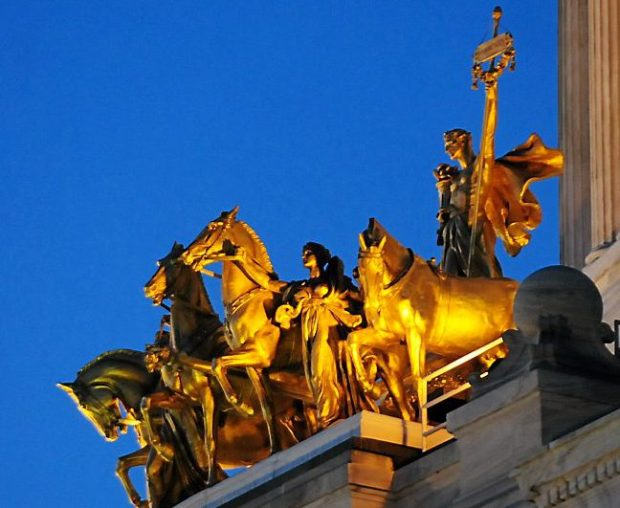 The Quadriga atop the front of the State Capitol.(Pioneer Press: Ben Garvin)