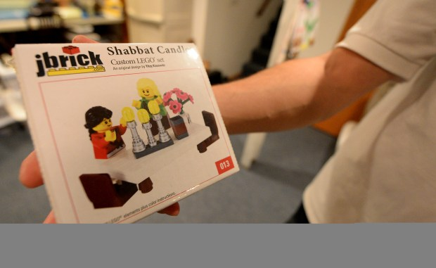 One the Jewish themed Lego kits that Yitzy Kasowitz sells from his business JBrick at their highland park home in St. Paul on Wednesday, December 2, 2015. (Pioneer Press: John Autey)