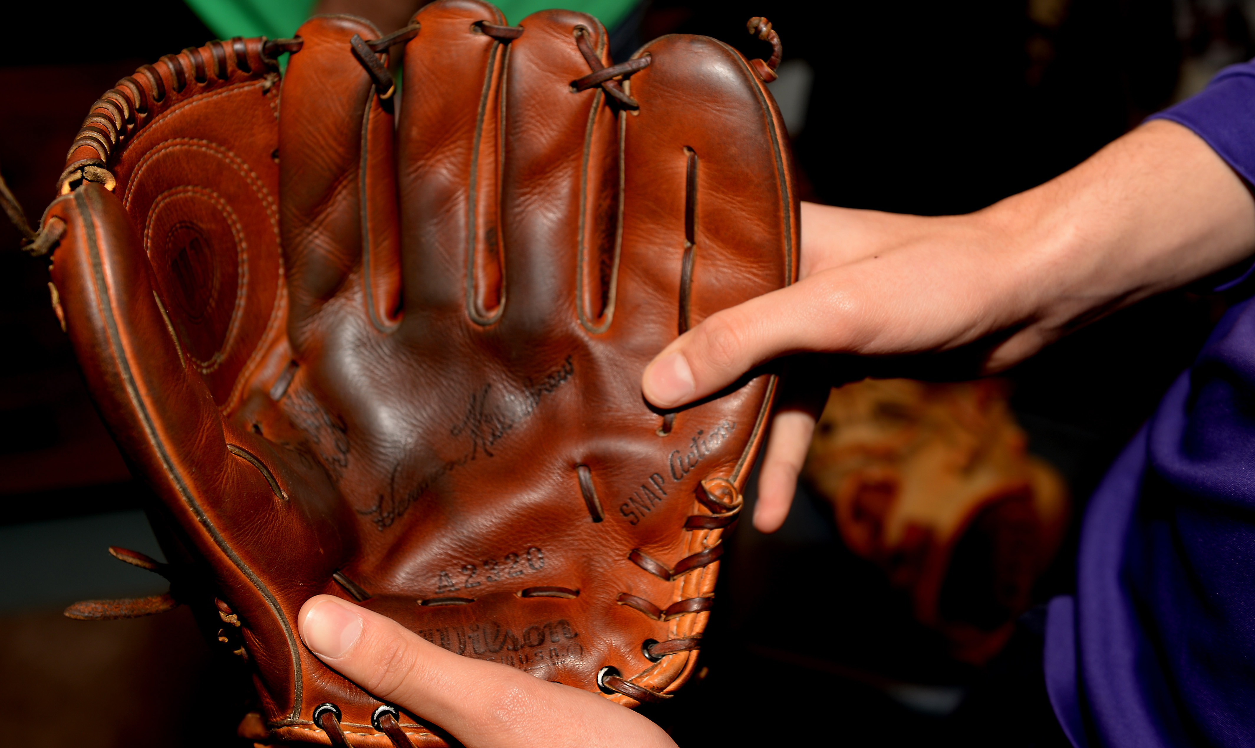 Image result for old baseball glove pictures