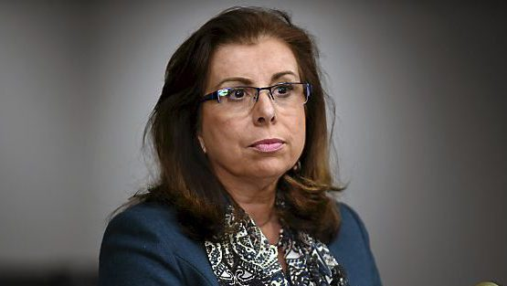 Saint Paul Public Schools Superintendent Valeria Silva spoke at a news conference in St. Paul on Wednesday, Dec. 9, 2015. (Pioneer Press: Scott Takushi)