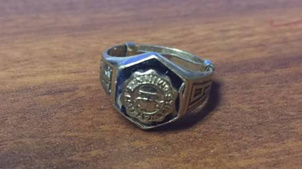 This class ring -- believed to belong to Allan Charles Knopf, Stillwater High School Class of 1970, will soon be returned to his mother. (Courtesy photo)