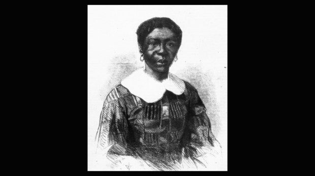 A portrait of Harriet Robinson Scott that appeared in Frank Leslie's Illustrated Newspaper in June 1857. Harriet Scott and her husband, Dred Scott, sued for their freedom in 1846 after living at Fort Snelling for several years in the 1830s. Photo courtesy of the Minnesota Historical Society.