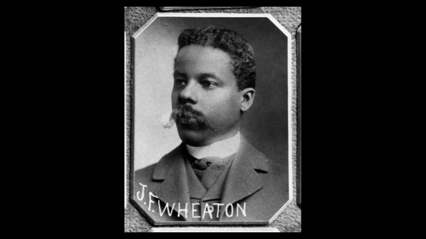 A portrait of John Frank Wheaton created in 1899 by St. Paul photographer Charles Zimmerman. In 1898, Wheaton became the first black person elected to the Minnesota Legislature. Photo courtesy of the Minnesota Historical Society.