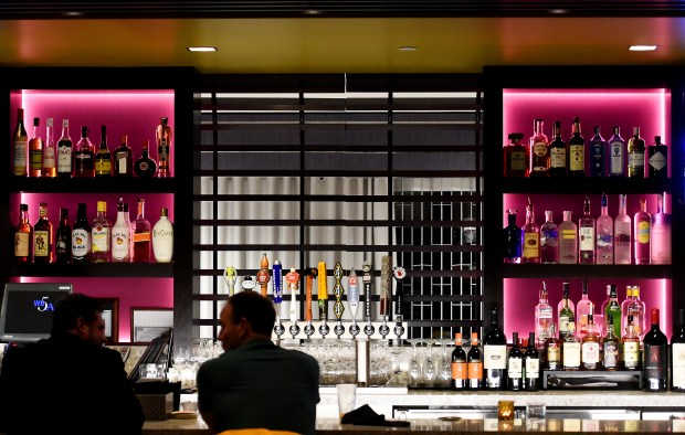 The bar at the Citizen Supper Club in the InterContinental Saint Paul Riverfront Hotel on Kellogg Avenue in St. Paul. Photographed on Wednesday, January 27, 2016. (Pioneer Press: John Autey)
