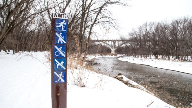 """FORT SNELLING STATE PARK. The Minnesota and Mississippi rivers provide beautiful scenery at this state park in St. Paul. Skiers will find 12 miles of classic skiing trails here, and they would be smart to not miss Pike Island, which can be circumnavigated for views of both rivers. The park does not offer ski equipment rental, and parking requires a Minnesota State Park parking permit. Visitors 16 and older will also need a """"Great Minnesota Ski Pass"""" ($6 daily; $20 season). (Pioneer Press: Andy Rathbun)"""