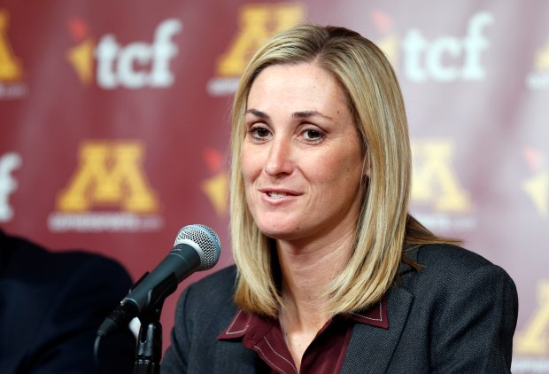 University of Minnesota interim athletic director Beth Goetz. (AP Photo/Jim Mone)