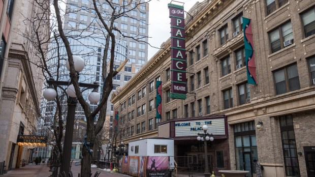 The outside of the Palace Theatre in downtown St. Paul on Thursday, Feb. 18, 2016. (Pioneer Press: Andy Rathbun)