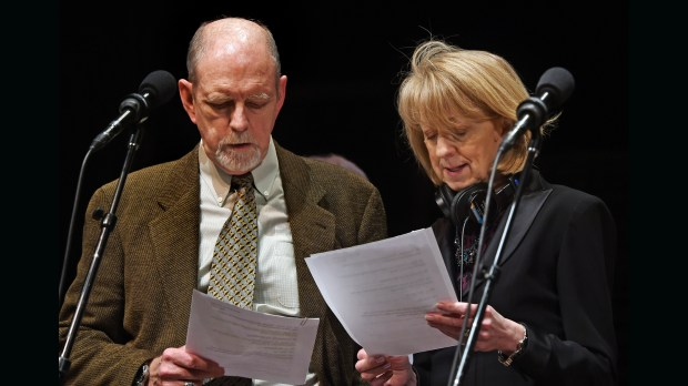 "Veteran entertainers Tim Russell and Sue Scott, shown in a Feburary 2016 photo, were mainstays on ""A Prairie Home Companion."" (Pioneer Press: John Autey)"