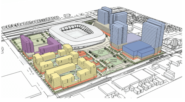 Plans for the MLS soccer stadium for St. Paul's Midway neighborhood. (Courtesy photo)