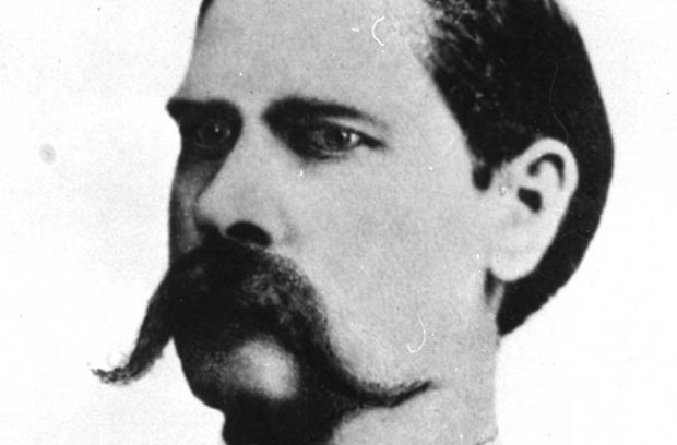 Frontier lawman and U.S. Marshall Wyatt Earp was born on this day in 1848. He posed for this portrait photo in 1881, after the infamous gunfight at the O.K. Corral with the Clanton gang, in Tombstone, Arizona Territory. Earp lived a long life, dying in 1929. (Associated Press)