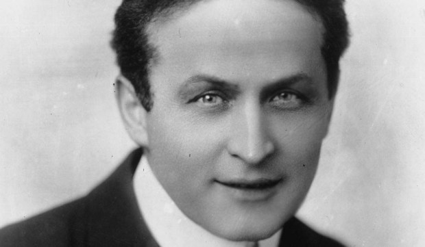The late magician and escape artist Harry Houdini was born in Budapest, Hungary, on this day in 1874. He's shown in a 1900 photo, and died in 1926. (Getty Images file photo)