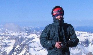Greg Seftick poses on the summit of Mount Moran at Grand Teton National Park in Wyoming in a photo taken in 2005. Seftick, 31, of Columbia Falls, Mont., and a friend, Walker Kuhl, 27, of Salt Lake City, died in an avalanche on April 16, 2011. It took searchers six days to find their bodies.