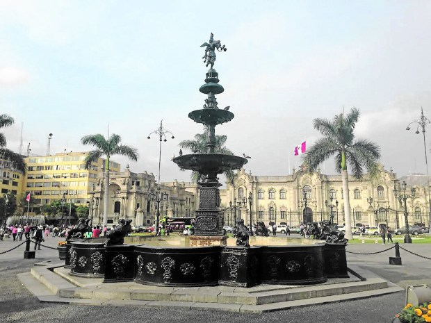 Plaza Mayor is known as Lima's birthplace and historical center. (Nicholas Backus)