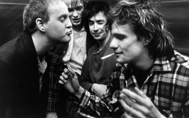 Artist Chris Mars, former drummer for the influential Twin Cities band the Replacements, is 55. He's the one squinting in the center, with the Replacements in their 1980s heyday. At left is the late guitarist Bob Stinson, bassist Tommy Stinson, Mars and singer and guitarist Paul Westenberg. (Pioneer Press archives)
