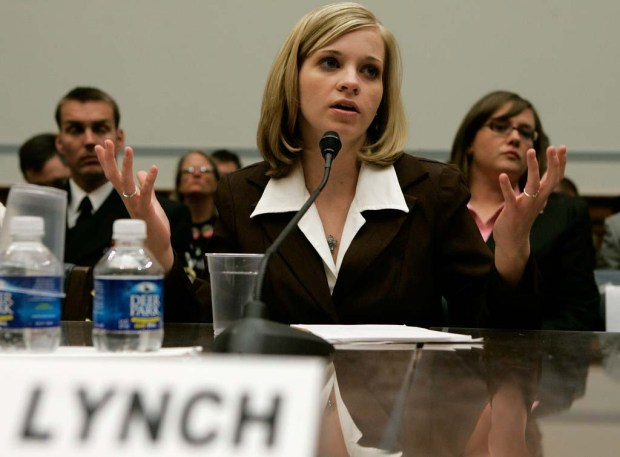 Former Army Private Jessica Lynch is 33. She's shown testifying before the House Committee on Oversight and Government Reform on Capitol Hill in 2007. Lynch was rescued after being wounded and captured in Iraq in March of 2003 and accused the military of releasing misleading statements about her capture and rescue to make her into a hero. She enlisted after she couldn't get a job at Walmart in her West Virginia hometown, and then the Sept. 11, 2001, attacks occurred. She's now a teacher. (Getty Images: Mark Wilson)