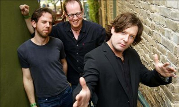 Marcy Playground bassist and Minneapolis native Dylan Keefe, center, is 43. He's shown with others in the New York-based band -- named after a Minneapolis grade school -- at left, drummer Shlomie Lavie and singer and Minneapolis native John Wozniak, right. (Courtesy Marcy Playground)