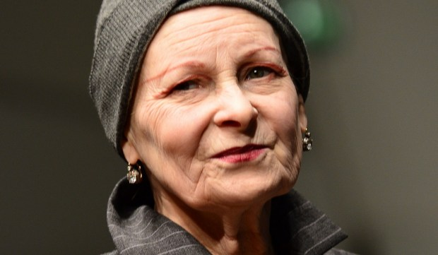 Designer Vivienne Westwood is 74. She had the London punk fashion boutique SEX with Malcolm Mclaren in the 1970s. (GIUSEPPE CACACE/AFP/Getty Images)