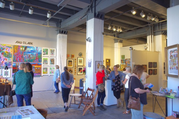 The AZ Gallery during the 2015 Fall St. Paul Art Crawl.