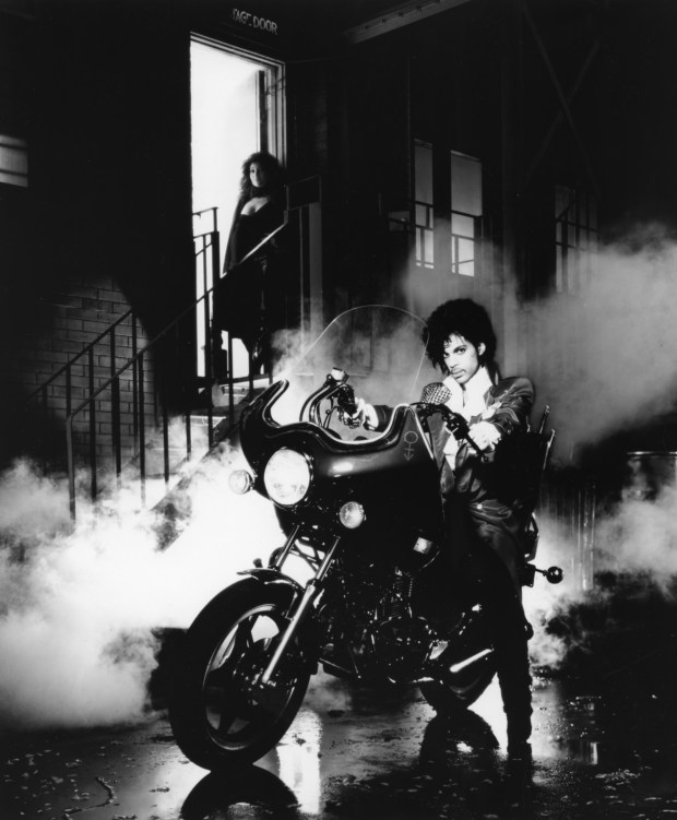 "Promotional image from 1984 film ""Purple Rain."""