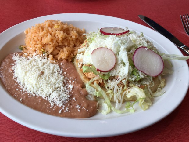 Sopes at Los Ocampo in St. Paul's Frogtown neighborhood. (Pioneer Press: Jessica Fleming)