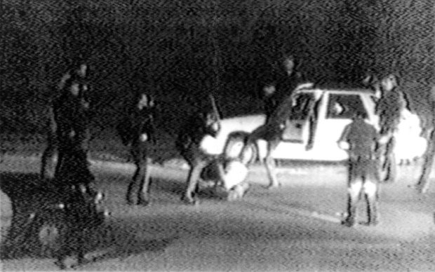 CORRECTS DATE TO MARCH 3, NOT MARCH 31 - FILE - This March 3, 1991 image made from video provided by KTLA Los Angeles shows police officers beating a man, later identified as Rodney King. King, the black motorist whose 1991 videotaped beating by Los Angeles police officers was the touchstone for one of the most destructive race riots in the nation's history, has died, his publicist said Sunday, June 17, 2012. He was 47. (AP Photo/Courtesy of KTLA Los Angeles, George Holliday)