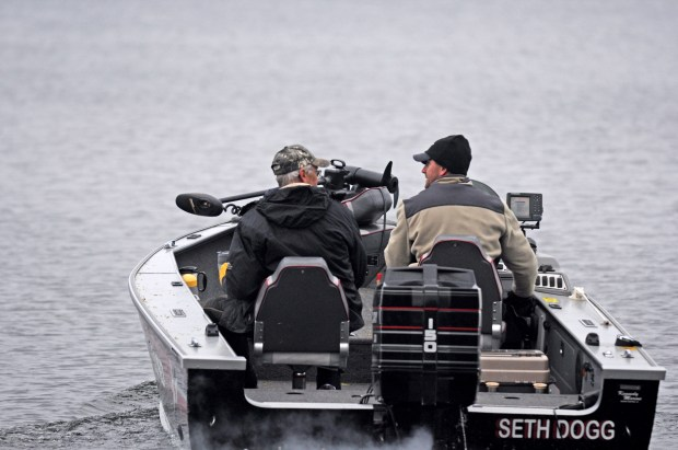 """Wayne Fretty, a St. Paul native now living in Ortonville, Minn., and his son Don of Zimmerman, Minn., head out for a morning of fishing on Lake Mille Lacs Saturday, May14, 2016, opening day for fishing for most game fish in Minnesota. """"I used to take him out on this lake, and now he takes me out on it,"""" Wayne Fretty said. (Pioneer Press: Dave Orrick)"""