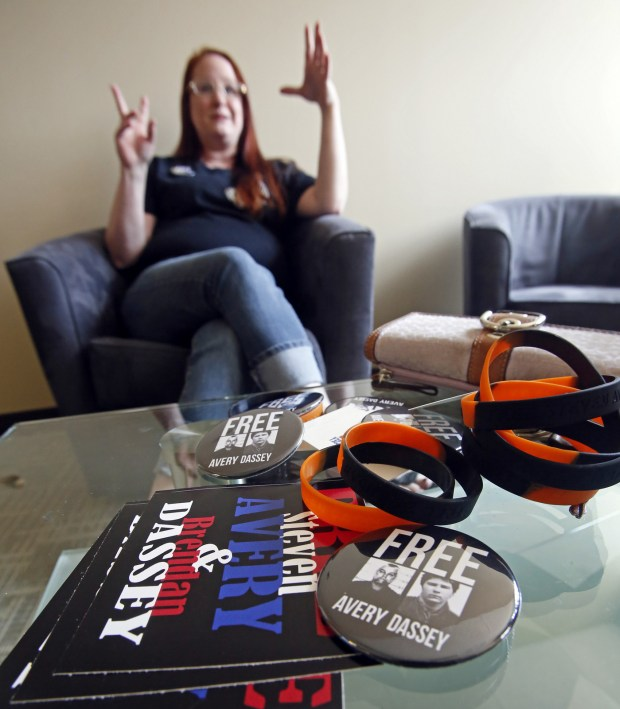 """Krystyne Frandson of Hawley, Minn., talks about the series """"Making a Murderer,"""" on Netflix. She believes Steven Avery, subject of the docuseries, has been wrongly convicted twice and is now part of an effort to clear his name. (David Samson / Forum News Service)"""