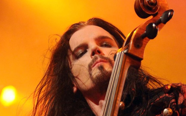Celloist Perttu Kivilaakso of Apocalyptica is 38. (Getty Images: Bryan Bedder)