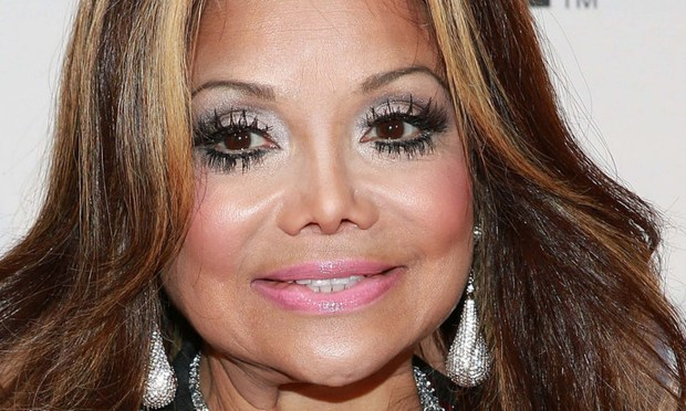 La Toya Jackson, her late brother Michael's equally weird doppelganger, is 60. (Getty Images: Robin Marchant)