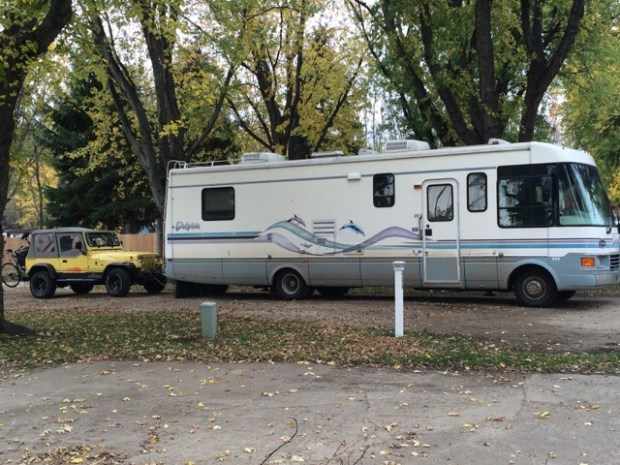 Angela McLaughlin and her husband, Andy, sold their St. Paul house in 2015 to travel the United States in this RV. (Angela McLaughlin)