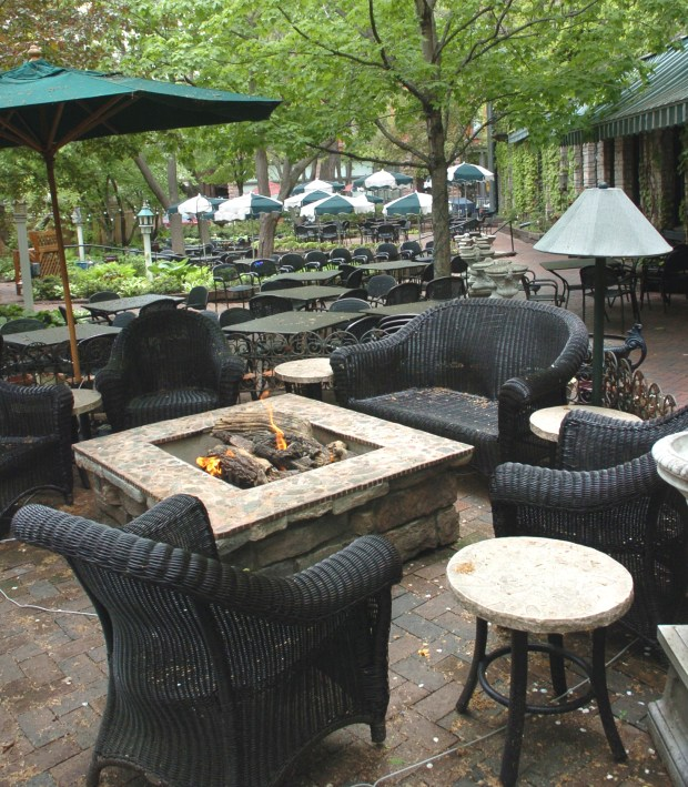 The patio at W.A. Frost in St. Paul. (Pioneer Press file photo)
