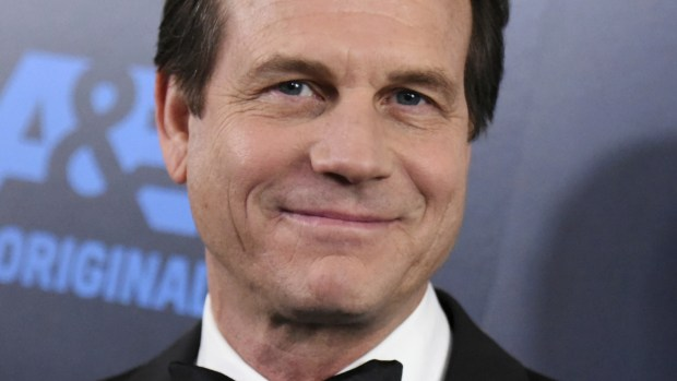 FILE - In this May 31, 2015, file photo, Bill Paxton arrives at the Critics' Choice Television Awards at the Beverly Hilton hotel in Beverly Hills, Calif. Paxton's death certificate states the actor died from a stroke days after surgery to replace a heart valve and repair damage to his aorta. The aorta is the main artery that carries blood from the heart to the rest of the body. He died on Feb. 25, 11 days after the surgery. (Photo by Richard Shotwell/Invision/AP, File)