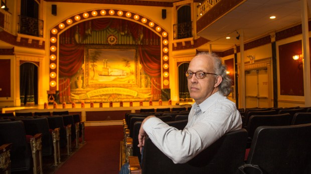 Marcus Dilliard, chair of the University of Minnesota's Department of Theatre Arts and Dance, sits inside the theater in the Minnesota Centennial Showboat in St. Paul on May 26, 2016. This summer, the seats will be filled with the final audiences for the university's showboat productions. (Pioneer Press: Andy Rathbun)
