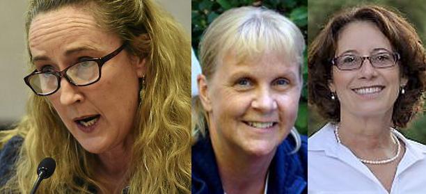 Lake Elmo City Council members Ann Smith, left, Julie Fliflet and Jill Lundgren