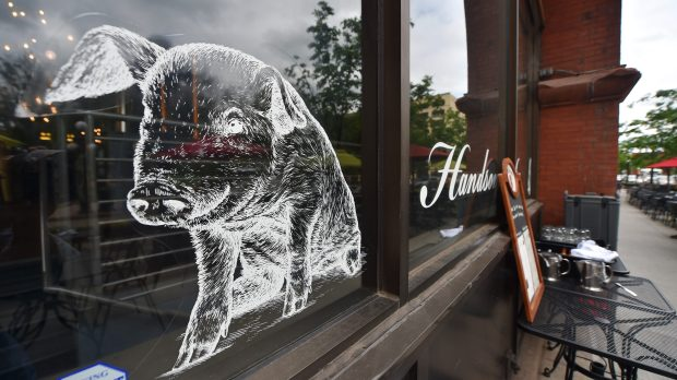 The Sixth Street side of the Handsome Hog restaurant in Lowertown in St. Paul on Wednesday, June 1, 2016. (Pioneer Press: John Autey)