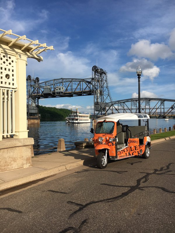 TukTukWooHoo, the company that is bringing three-wheeled motorized rickshaws to Stillwater, will celebrate its grand opening next week. Courtesy: Jim Cashman