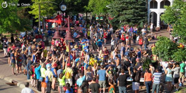 A Twin Cities nonprofit called This Is Geek said it recently drew more than 1,000 Pokemon fans to Centennial Lakes Plaza in Edina for a meet-up of sorts. Companies like Sprint and Rita's Italian Ice and the Edina-based Pinstripes bistro joined in the fun. (Courtesy photo: This Is Geek)