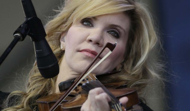 Bluegrass-country singer, songwriter and fiddler Alison Krauss is 45. (Associated Press: Gerald Herbert)