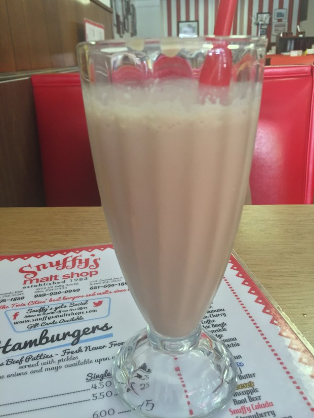 Fudge-Scotchie malt at Snuffy's Malt Shop (Pioneer Press: Nancy Ngo)