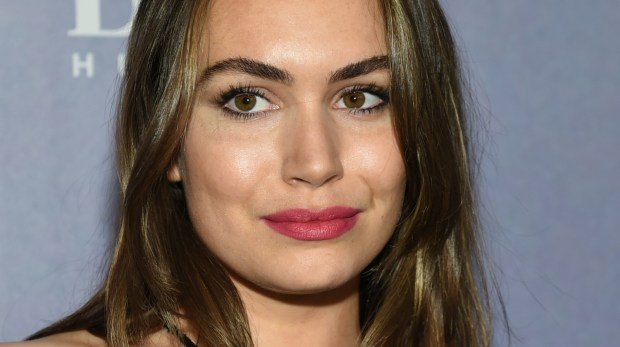 """Actress and singer Sophie Simmons, best known for her role in """"Gene Simmons: Family Jewels,"""" with her dad, the Kiss musician, is 24. (Evan Agostini/Invision/AP)"""