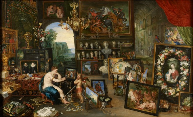 """Jan Brueghel the Younger, """"The Five Senses: Sight"""" (circa 1625) Image: Paul G. Allen Family Collection"""