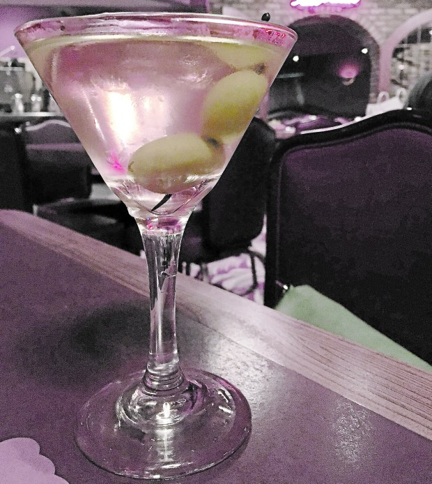 July 8, 2016 photo of Dirty Martini at Mancini's in St. Paul. (Pioneer Press: Jessica Fleming)
