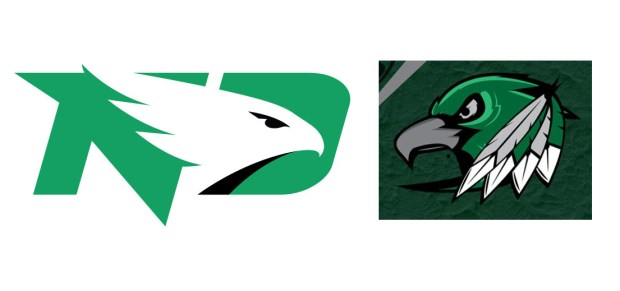 The logo for the University of North Dakota's Fighting Hawks. (Courtesy of Forum News Service)