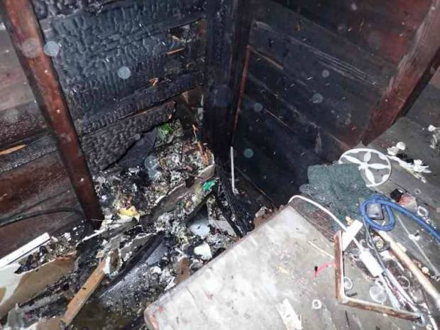 The St. Paul fire department said illegal fireworks caused a shed fire in the 1200 block of Albemarle Street on July 4, 2016. (Courtesy St. Paul fire department)